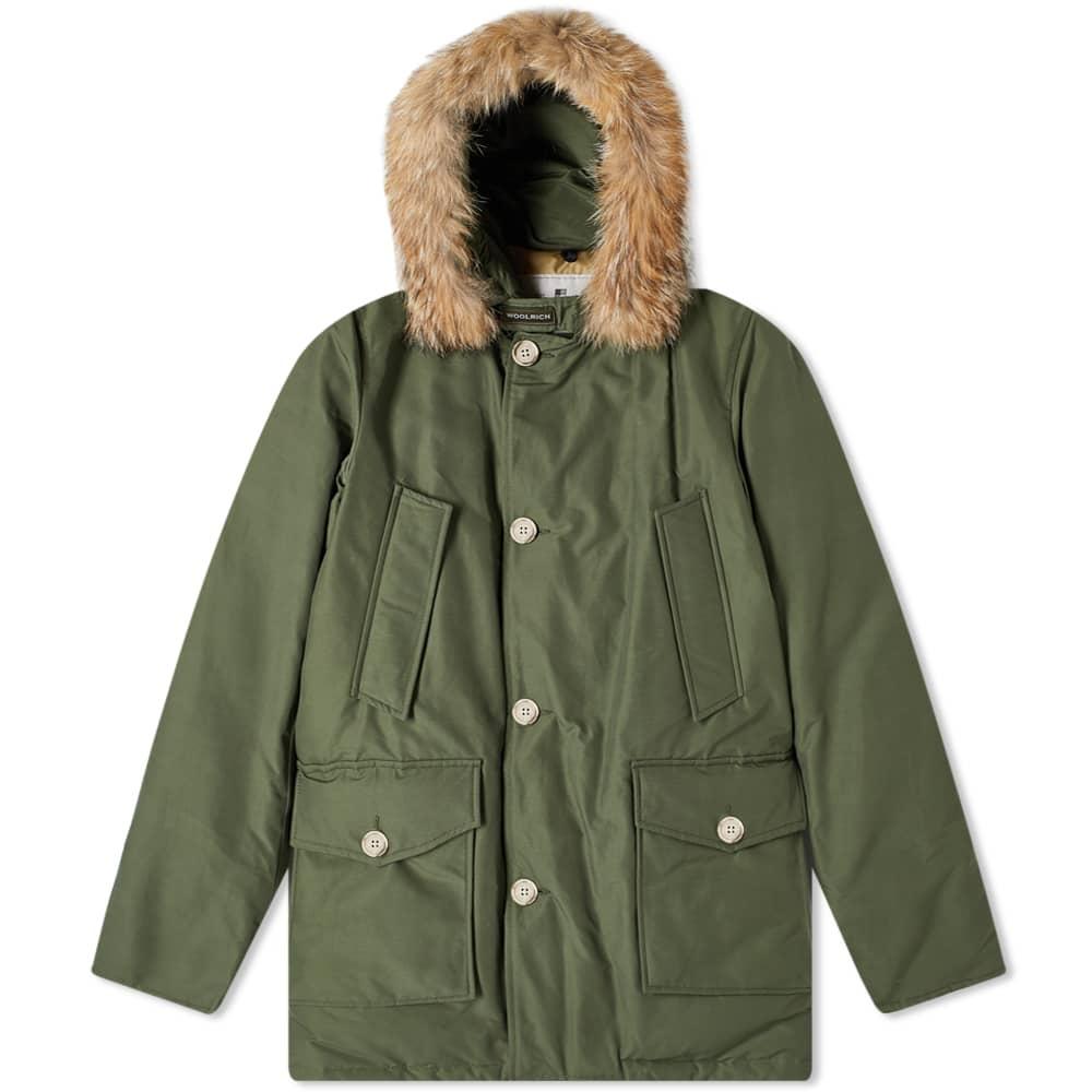 Woolrich Arctic Parka Df Dark Army Green Parka Ebay