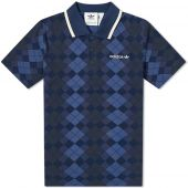 Adidas Argyle Pique Polo Night Indigo