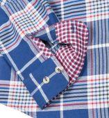 Ben Sherman Long Sleeve Check Shirt Victoria Blue