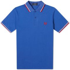 Fred Perry Reissues Twin Tipped Polo Bright Blue, White & Red