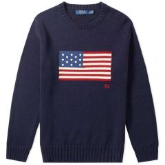 Polo Ralph Lauren Flag Intarsia Knit Navy