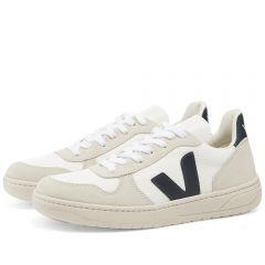 Veja V-10 Suede & Mesh Basketball Sneaker White & Navy