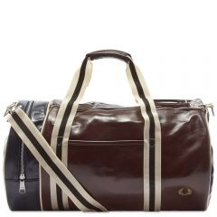 Fred Perry Authentic Colour Block Classic Barrel Bag Port & Navy