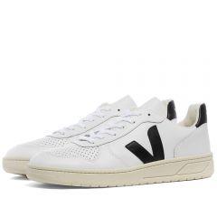 Veja V-10 Leather Basketball Sneaker White & Black