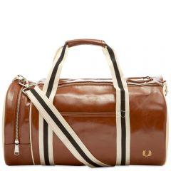 Fred Perry Authentic Classic Barrel Bag Tan & Ecru