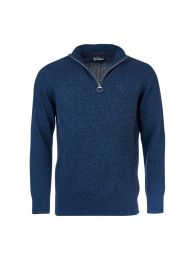 Barbour Essential Wool Half Zip Sweater Navy MIx