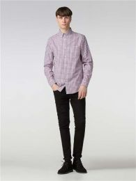 Ben Sherman Long Sleeve House Gingham Shirt Rose