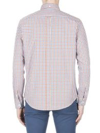 Ben Sherman Long Sleeve House Gingham Shirt Dark Red