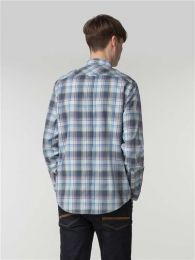 Ben Sherman Long Sleeve Summer Check Shirt Light Blue