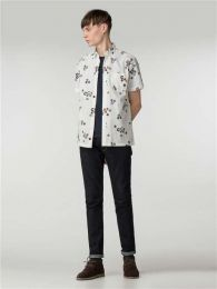Ben Sherman Short Sleeve Aquarius Archive Shirt White
