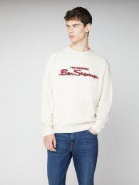 Ben Sherman Signature Logo Sweatshirt Ecru