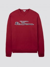 Ben Sherman Signature Logo Sweatshirt Red