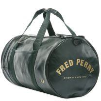 Fred Perry Authentic Tonal Barrel Bag Dark Green