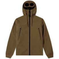 C.P. Company Soft Shell Hooded Jacket Olive