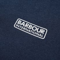 Barbour International Small Logo Tee Navy