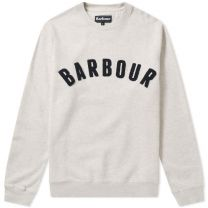 Barbour Prep Logo Crew Sweat Ecru Marl