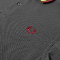 Fred Perry Authentic Slim Fit Twin Tipped Polo Gunmetal