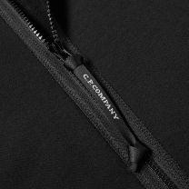 C.P. Company Diagonal Raised Fleece Goggle Hoodie Black