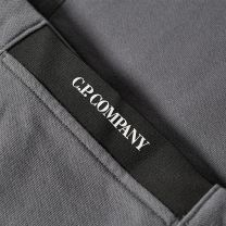 C.P. Company Diagonal Raised Fleece Arm Lens Popover Hoody Gargoyle