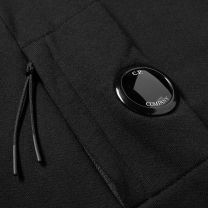 C.P. Company Diagonal Raised Arm Lens Quarter Zip Sweat Black