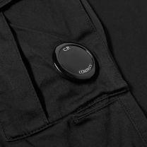 C.P. Company Lens Pocket Sateen Cargo Pant Black