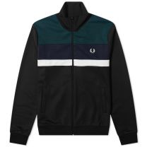 Fred Perry Authentic Colourblock Track Jacket Black