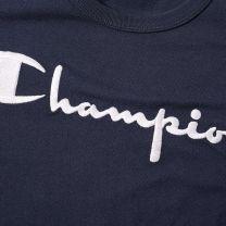 Champion Reverse Weave Script Logo Tee Navy