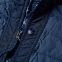 Stone Island 43125 Zip Hooded Loom Down Jacket Navy Marine