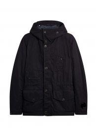C.P. Company Nylon B. Multi-Pocket Goggle Hooded Jacket Black Coffee