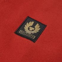 Belstaff Patch Logo Crew Sweat Red Ochre