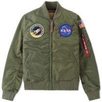 Alpha Industries Flightjacket MA-1 VF Nasa Sage Green