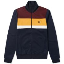 Fred Perry Authentic Colourblock Track Jacket Carbon Blue