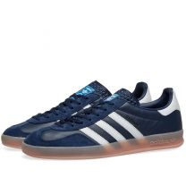 Adidas Gazelle Indoor Collegiate Navy, White & Pink EE5737