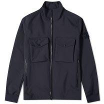 Stone Island Ghost Piece Pocket Zip Jacket Navy Blue