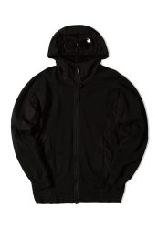 C.P. Company Cotton Fleece Goggle Hood Sweat Black