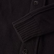 Stone Island Button Up Cardigan Black