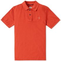 C.P. Company Patch Logo Polo Spicy Orange