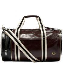 Fred Perry Classic Barrel Bag Port & Black