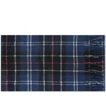 Barbour Tartan Lambswool Scarf Navy & Red