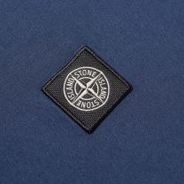 Stone Island Garment Dyed Patch Logo Tee Blue Marine