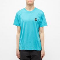 Stone Island Garment Dyed Patch Logo Tee Turquoise