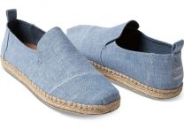 Toms Men Deconstructed Alpargatas Blue Slub Chambray