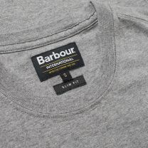 Barbour International Small Logo Tee Anthracite