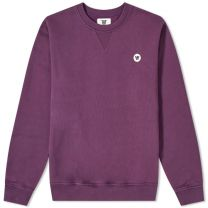 Wood Wood Tye Crew Sweat Aubergine
