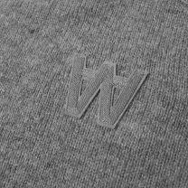 Wood Wood Kevin Crew Knit Grey Melange