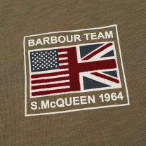 Barbour International Steve McQueen Flag Tee Olive