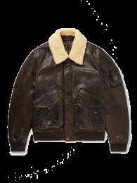 Belstaff Carrier Full-Grain Leather Bomber Jacket