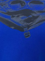 C.P. Company Goggle Hood Back Print Tee Blue