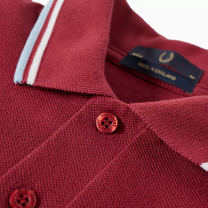 Fred Perry Reissues Original Twin Tipped Polo Maroon, White & Ice