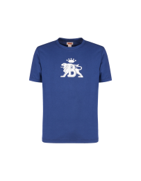 Baracuta Tee Contrast Logo Cobalt Blue